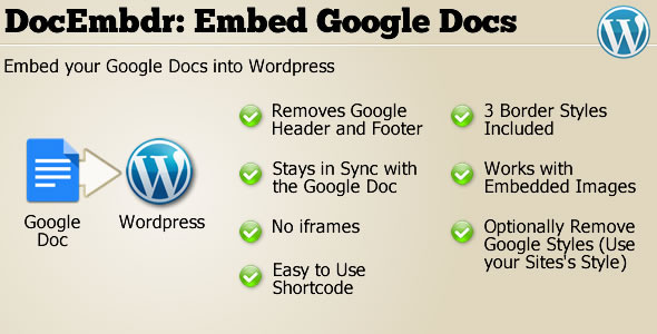 CodeCanyon DocEmbdr Embed Google Doc Wordpress Plugin 5315875