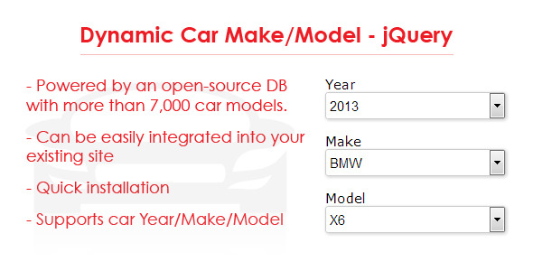 Dynamic Car Make/Model – jQuery (Miscellaneous) images
