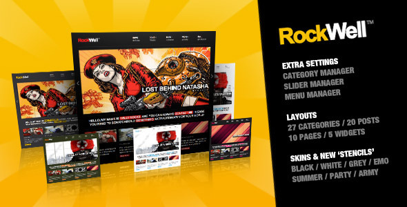 RockWell - Portfolio & Blog WordPress Theme - Entertainment WordPress