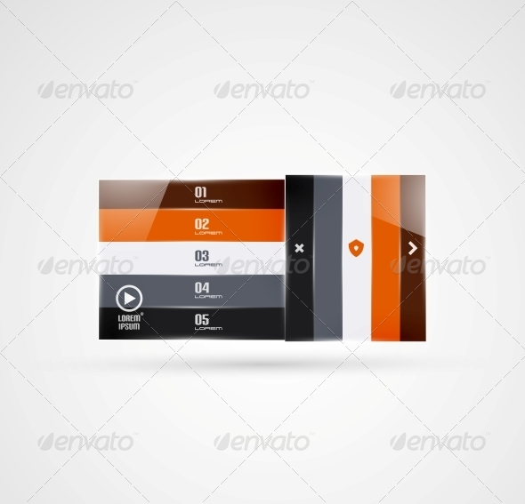 GraphicRiver Modern Geometrical Stripes Infographics Template 5372666