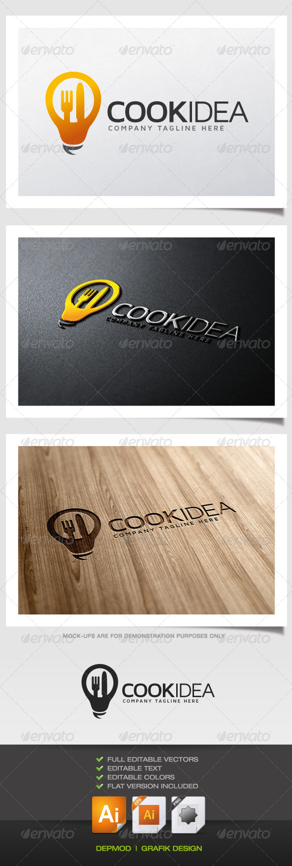 GraphicRiver Cook Idea Logo 5373194