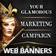 Glamorous Marketing Campaign Web Banners - GraphicRiver Item for Sale