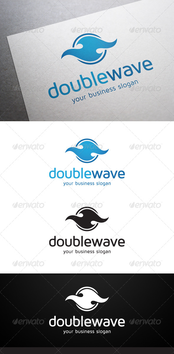 GraphicRiver Double Wave Logo 5373766