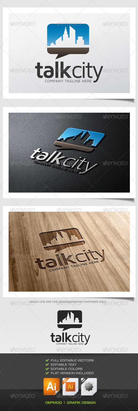 GraphicRiver Talk City Logo 5373917