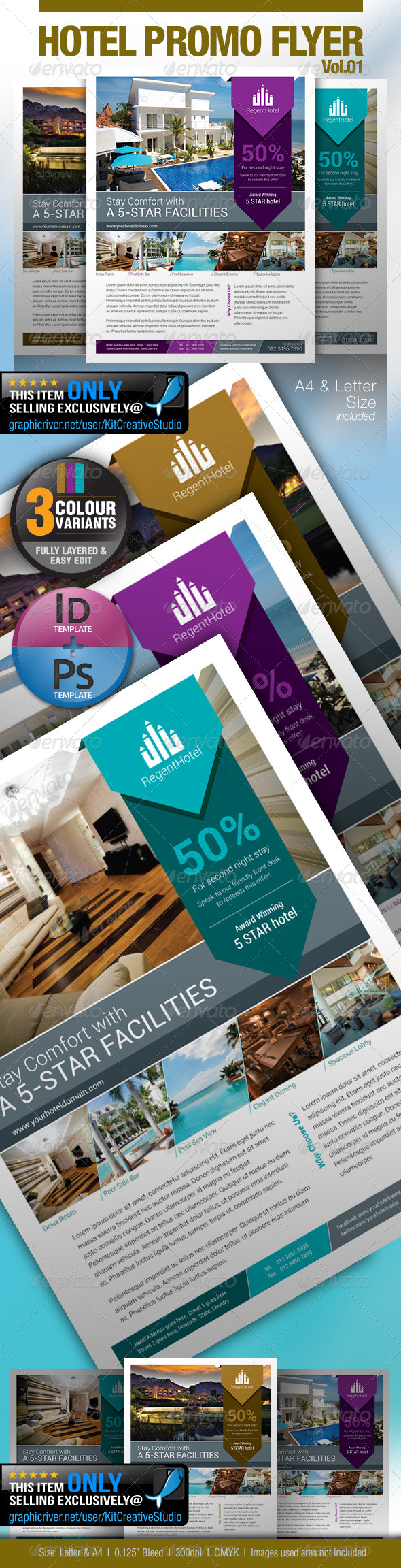 GraphicRiver Hotel Promo Flyer Vol.01 5335953
