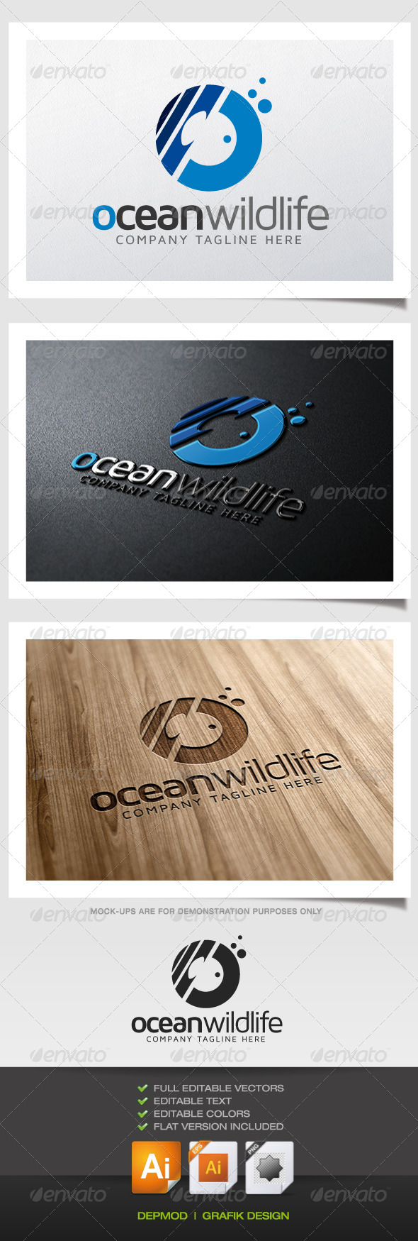 GraphicRiver Ocean Wildlife Logo 5373945