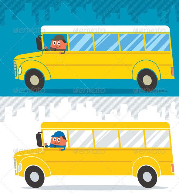 GraphicRiver School Bus Driver 5374354