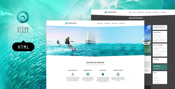 OceanPlaza HTML layout - Corporate Site Templates