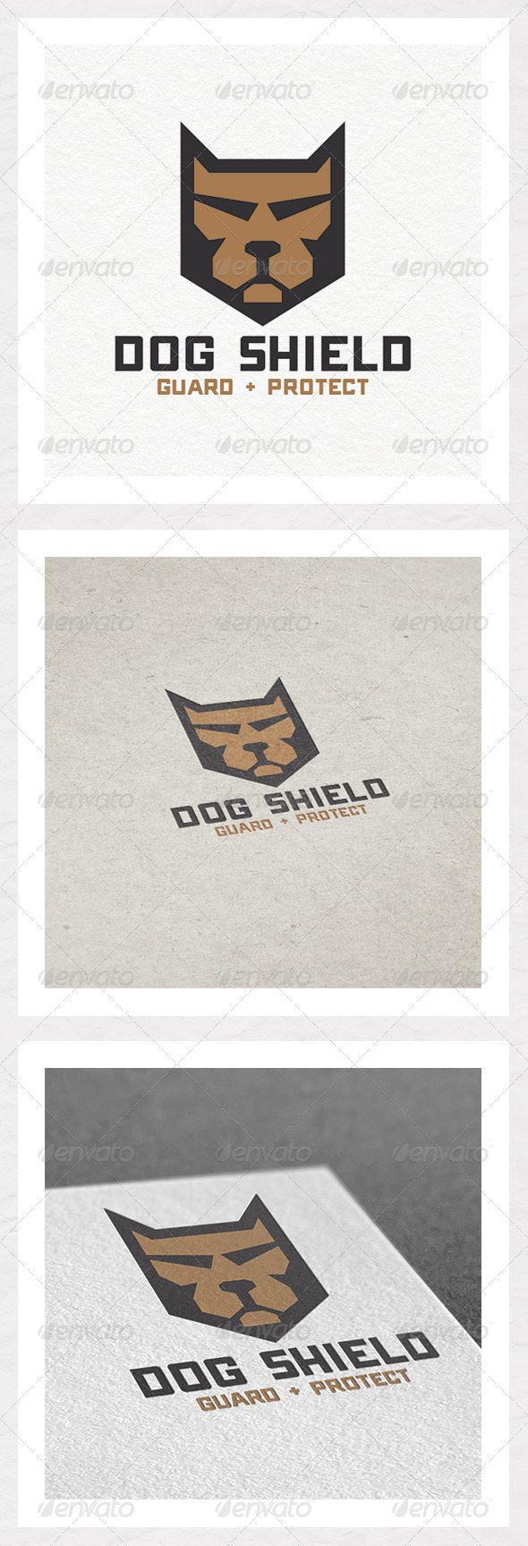 Dog Shield Logo Design - Animals Logo Templates