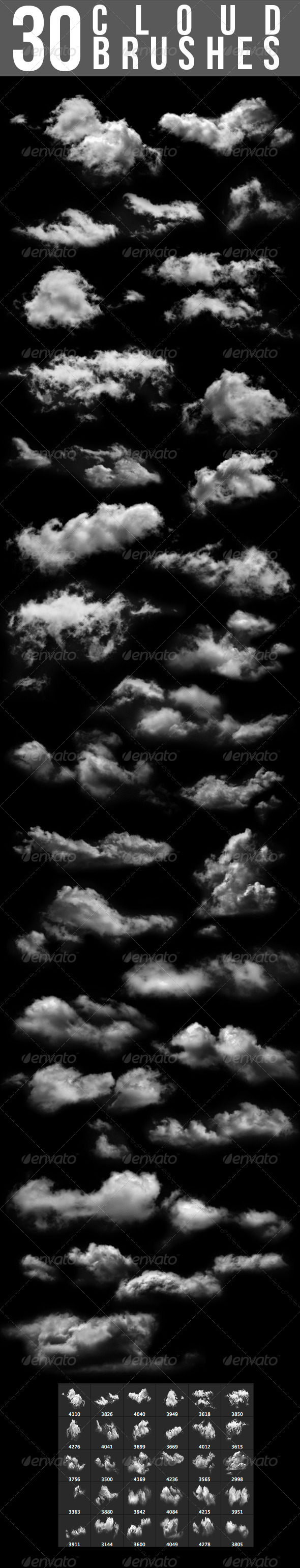 GraphicRiver 30 Cloud Brushes 5375842