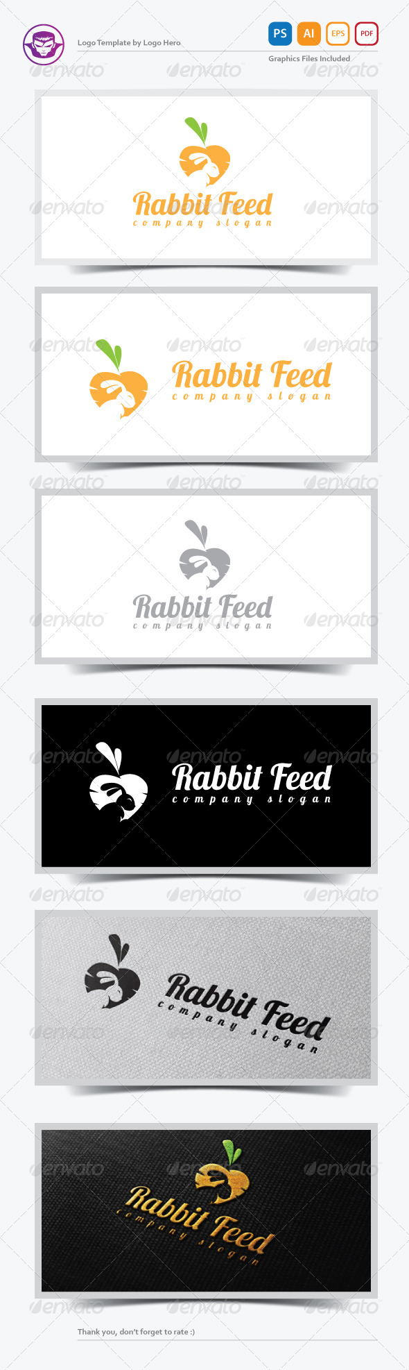GraphicRiver Rabbit Feed Logo Template 5369045