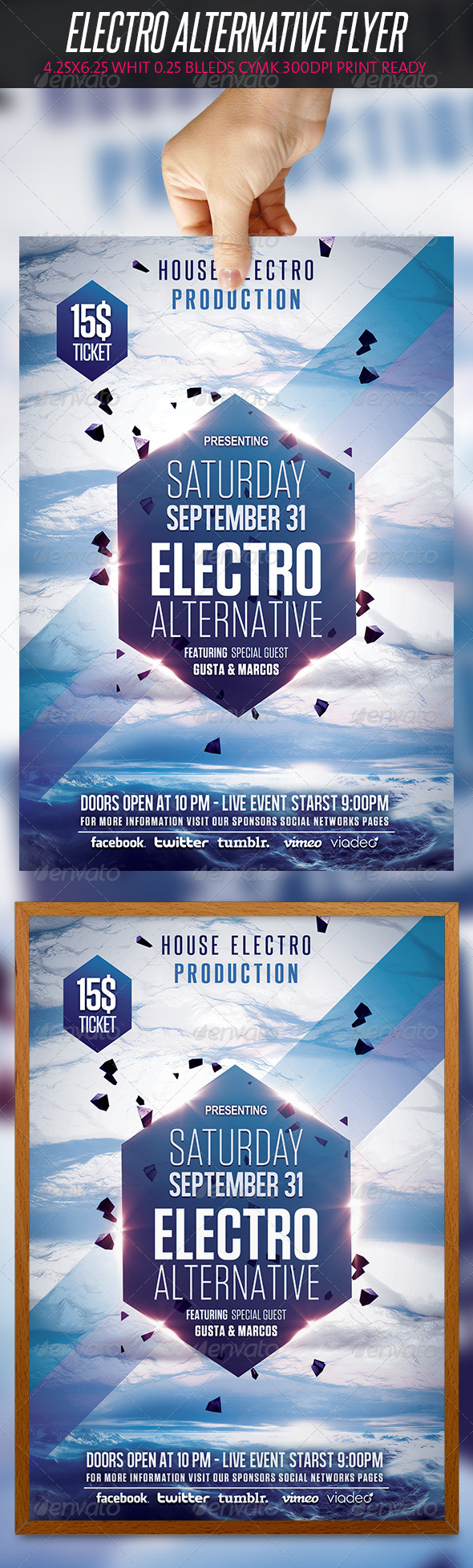 GraphicRiver Electro Alternative Flyer 5376280