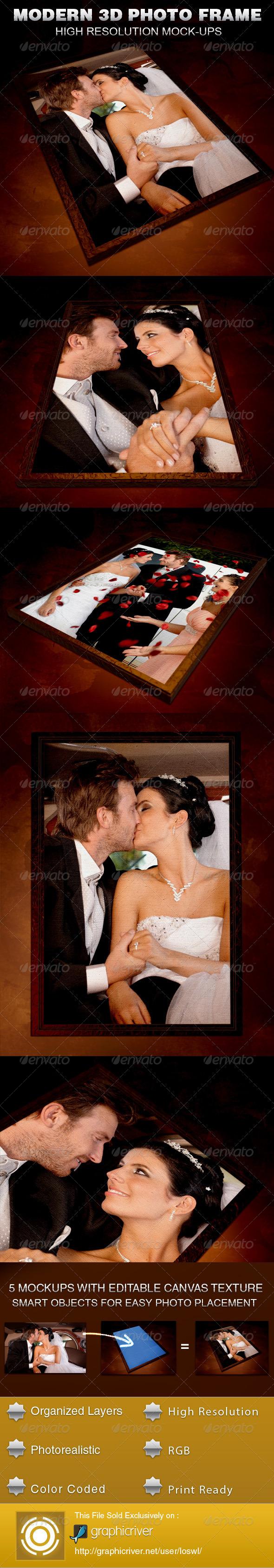 GraphicRiver Modern 3D Photo Frame Mockup Template 5377271