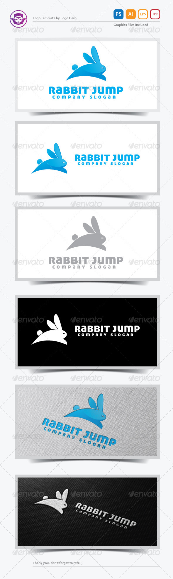 GraphicRiver Rabbit Jump Logo Template 5377620