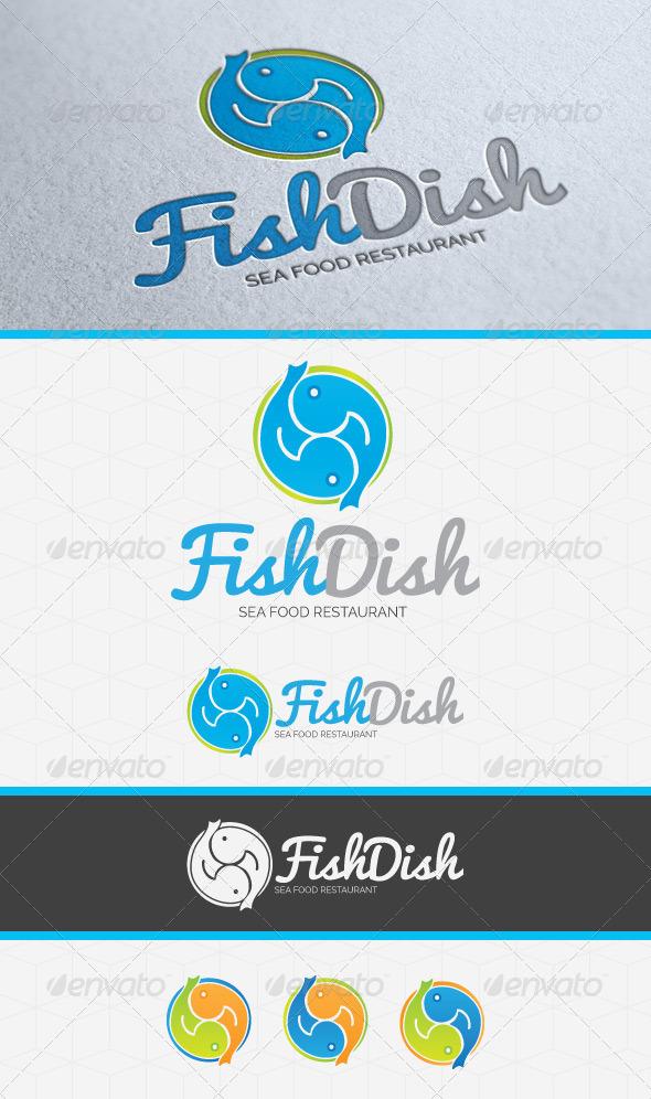 GraphicRiver Fish Dish Restaurant Logo Template 5377640