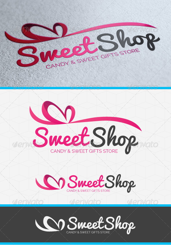 GraphicRiver Sweet Shop Heart Logo Template 5377643