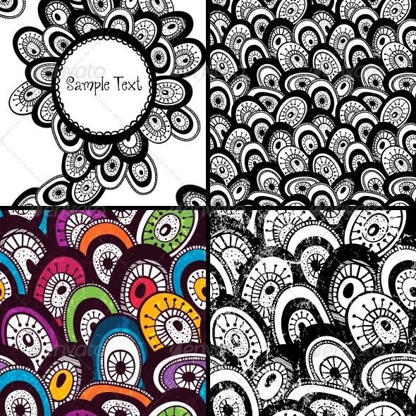 GraphicRiver Set of Hand Drawn Backgrounds 5378135