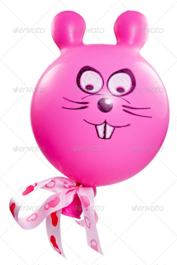 Balloon With A Bunny Face - Stock Photo - Images