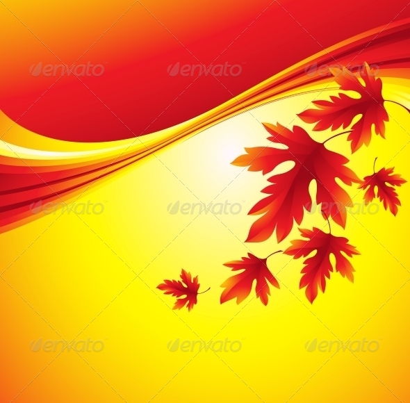 GraphicRiver Fall Leafs Abstract Background 5379162