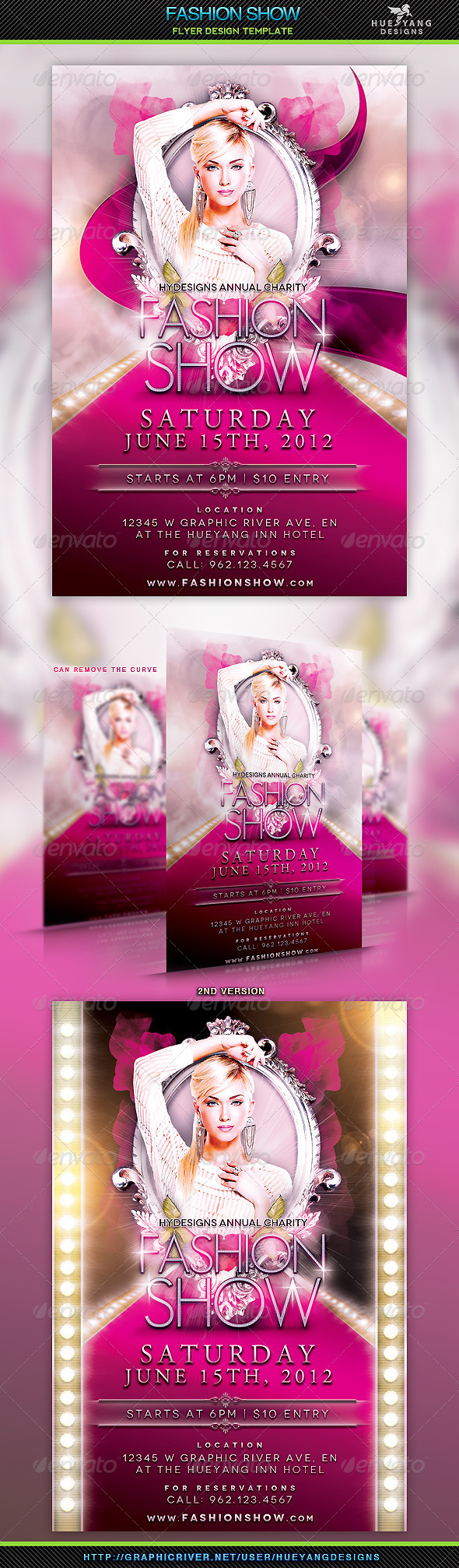 Fashion Show Flyer Template - Miscellaneous Events