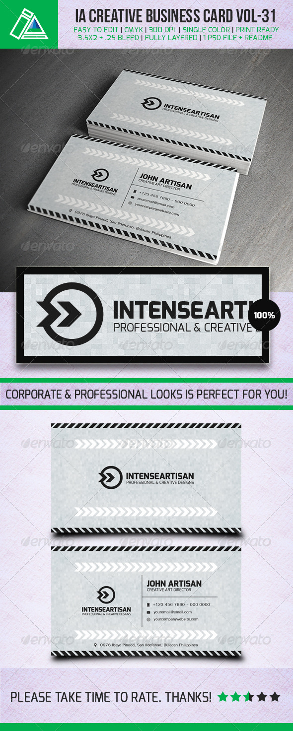 GraphicRiver IntenseArtisan Business Card Vol.31 5381120