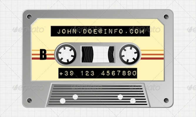 Audio Tape Business Card