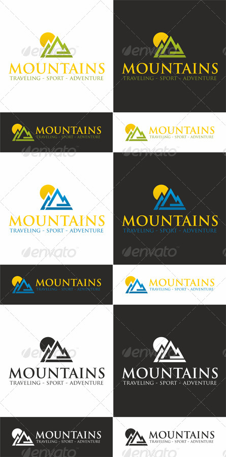 Sunny Mountains - Traveling Sport Logo