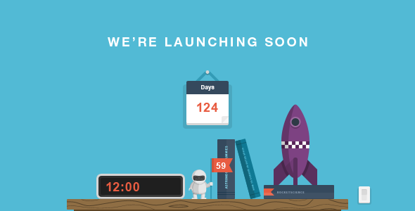 ThemeForest RocketScience Illustrated Coming Soon Template 5382083