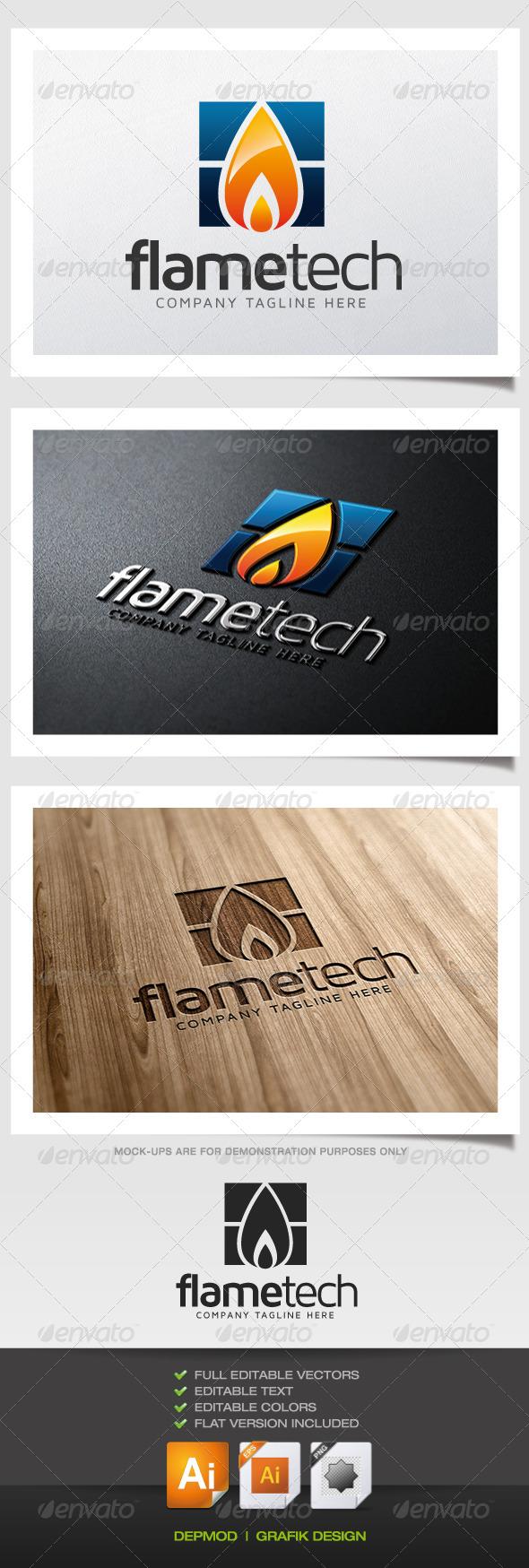 GraphicRiver Flame Tech Logo 5382098
