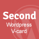 Second Responsive WordPress V-card (Portfolio) Download