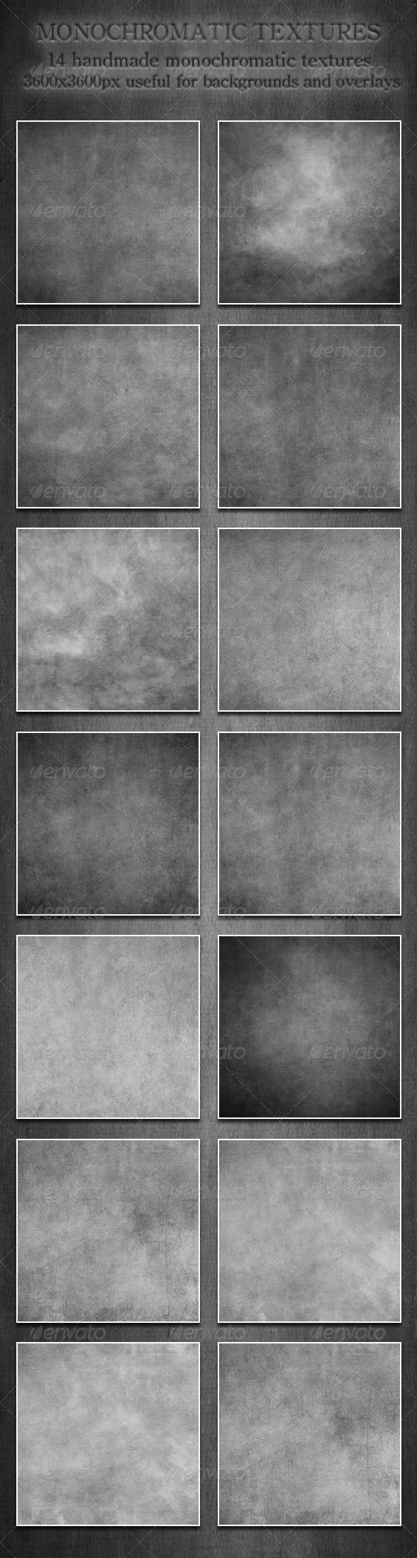 GraphicRiver Monochromatic Textures 5382521