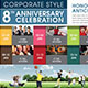 Corporate Anniversary Celebration Event Flyer - GraphicRiver Item for Sale