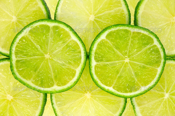 Green Lemon Background - Stock Photo - Images