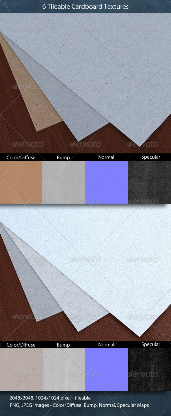 3DOcean Tileable Cardboard Texture Pack 552954