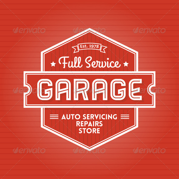 GraphicRiver Garage Label 5353620