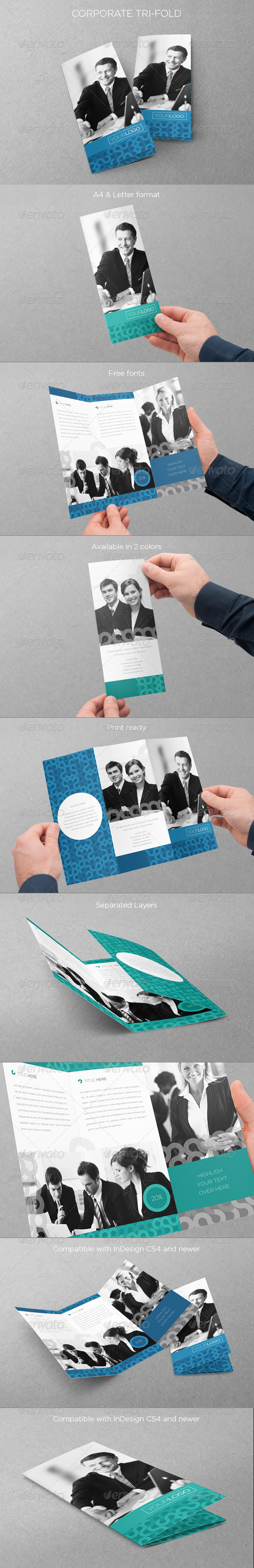 Corporate Business Trifold - Brochures Print Templates