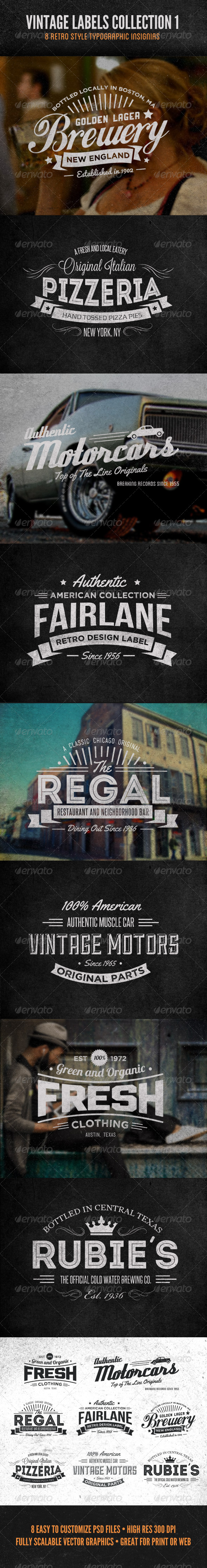 GraphicRiver Vintage Labels and Logos Collection 1 5383666