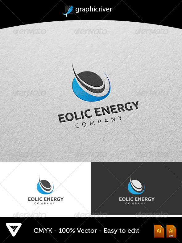 GraphicRiver Eolic Energy Logo 5384353