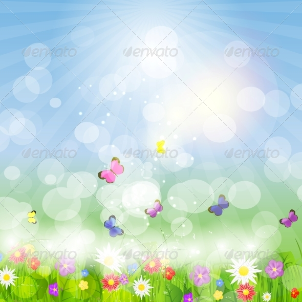 GraphicRiver Summer Holidays Vector Background 5385053
