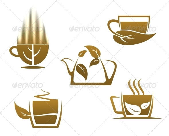GraphicRiver Herbal Tea Cups 5385848