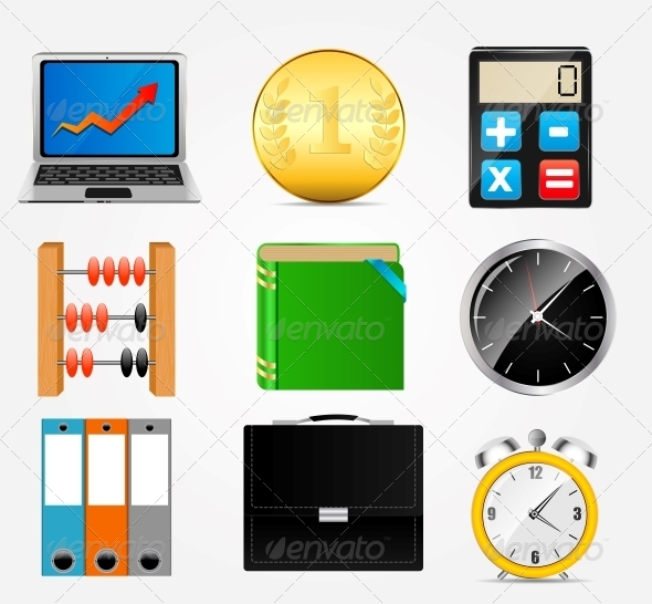 GraphicRiver Business Icon Set 5385878
