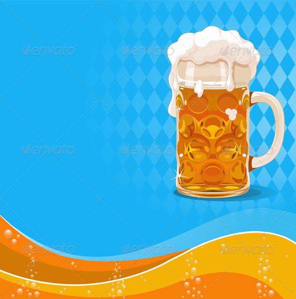 GraphicRiver Oktoberfest Beer Background 5386041