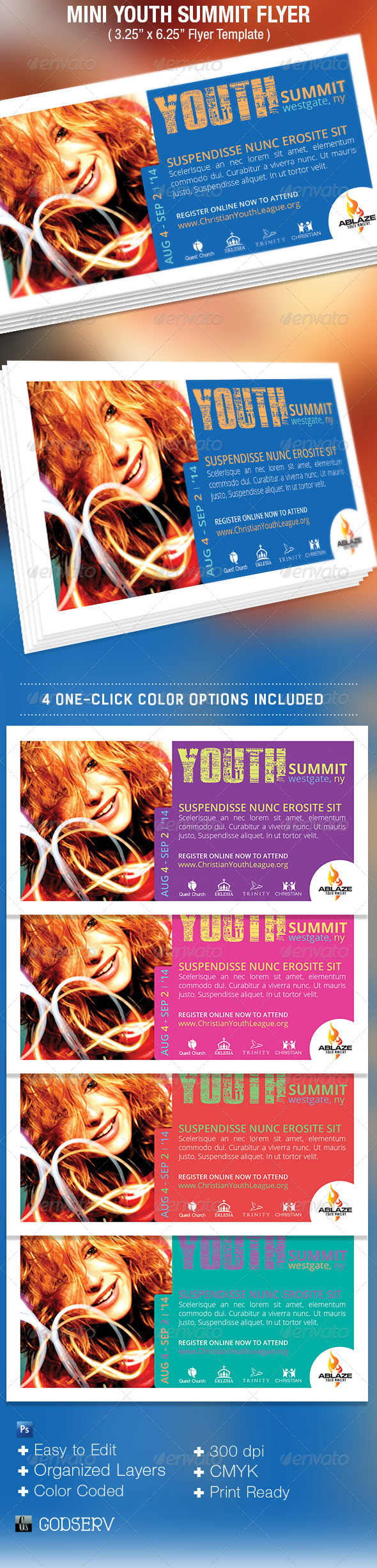GraphicRiver Mini Youth Summit Flyer Template 5386043