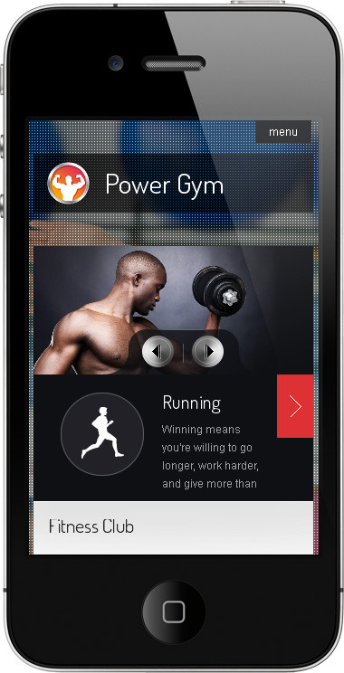 Power Gym - Responsive Wordpress Theme - ��mobile page preview