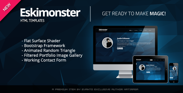 New Eskimonster -  CV/Resume Responsive Template