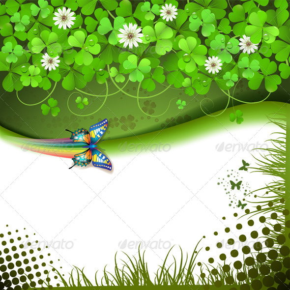 GraphicRiver Background with Clover 5387577