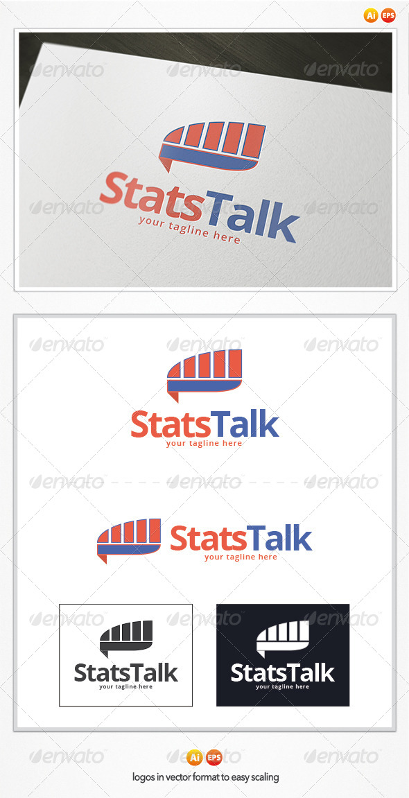 GraphicRiver Stats Talk Logo 5387649