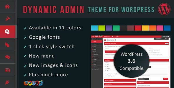 Dynamic Admin Theme v1.1.0 for WordPress