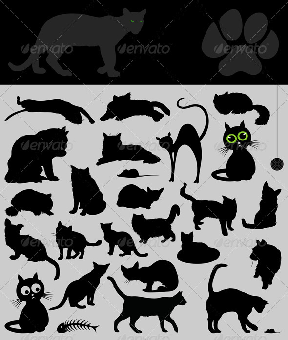 Collection of cats - Animals Characters