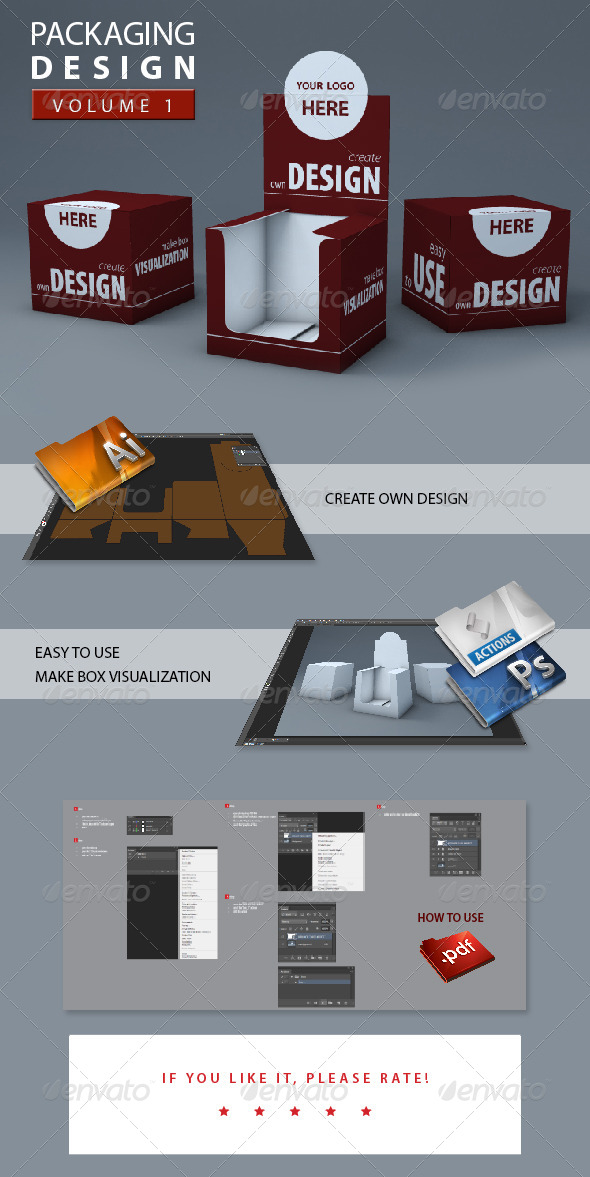 GraphicRiver 3D Box Packaging 5387822
